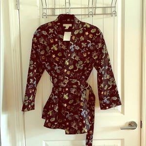 Kimono style blazer with belt